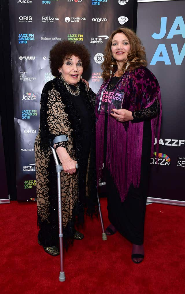 Jacqui Dankworth with her mother Dame Cleo Laine