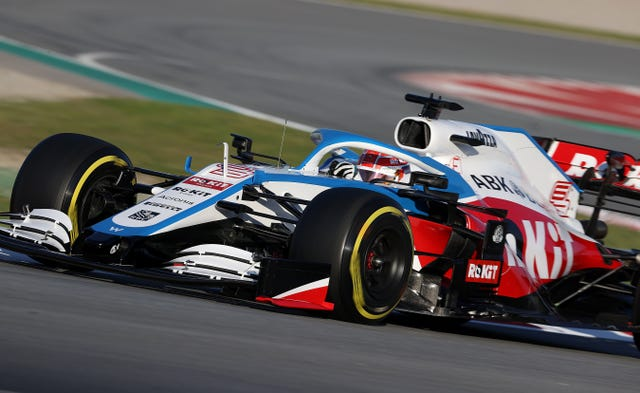 Russell in action for Williams during pre-season testing (David Davies/PA)