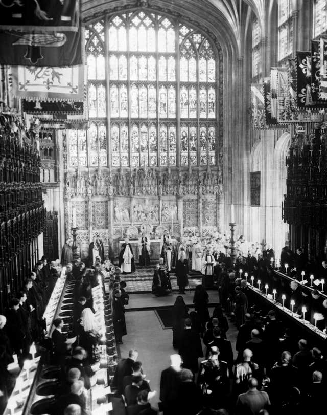 Funeral of King George VI at Windsor