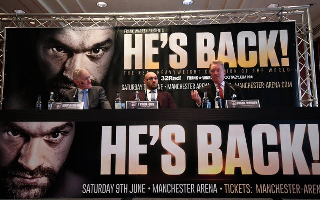 Promoter Frank Warren is convinced Tyson Fury can work his way back to the top of the sport (Victoria Jones/PA Images)