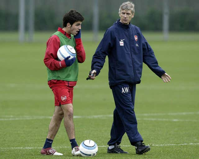 Cesc Fabregas (left) was one of the young talents to be given a chance by former Arsenal manager Arsene Wenger