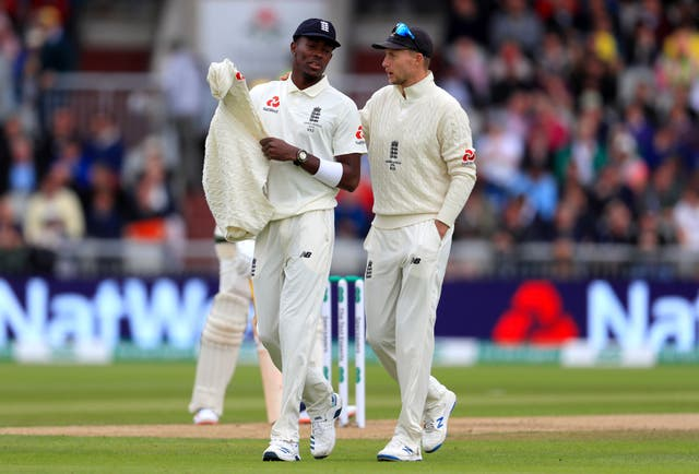 Joe Root, right, believes Jofra Archer underestimates his own talent (Mike Egerton/PA)