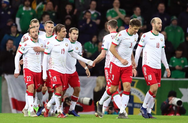 Belarus levelled soon after going behind at Windsor Park