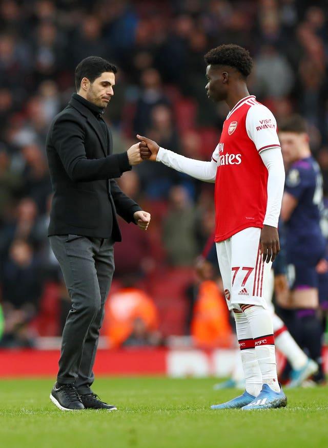 Mikel Arteta hopes Saka will agree a new deal soon