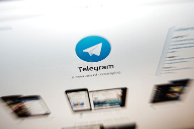 The Telegram messaging app