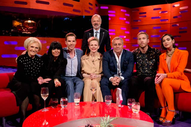 Mary Berry and fellow guests on The Graham Norton Show (Isabel Infantes/PA)
