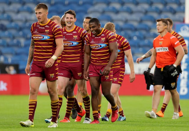 Jermaine McGillvary, centre right, is set to end his career with Huddersfield