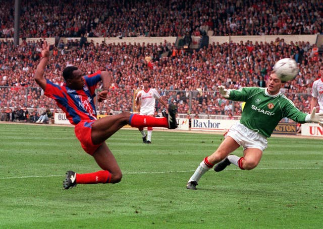 Crystal Palace substitute Ian Wright made an impact with two goals