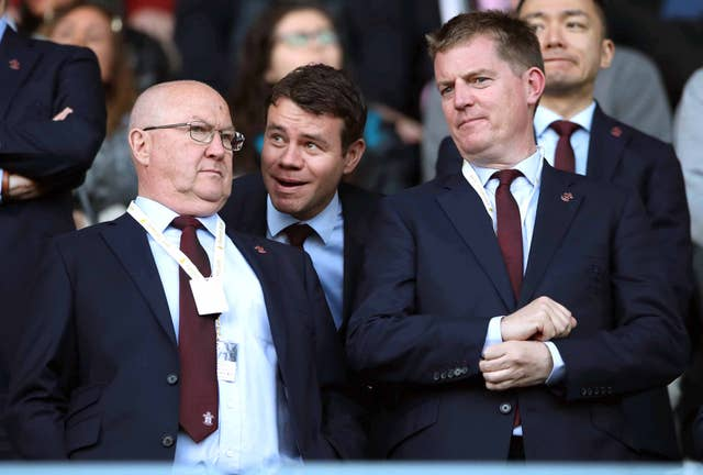 Ross Wilson (centre) was Southampton's director of football operations until October