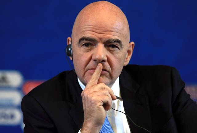 FIFA president Gianni Infantino has pledged to extend any UEFA sanctions against Bulgarian worldwide