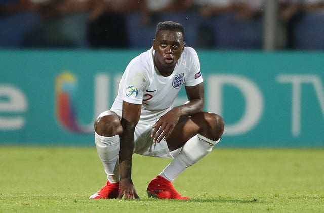 Aaron Wan-Bissaka is with the England Under-21s at Euro 2019
