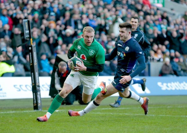 Keith Earls sealed Ireland's win earlier this year