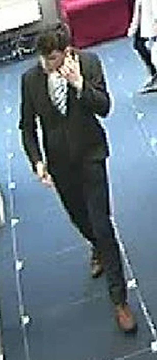 Duncan Sim was captured on CCTV after disappearing from St Andrews (Police Scotland/PA)