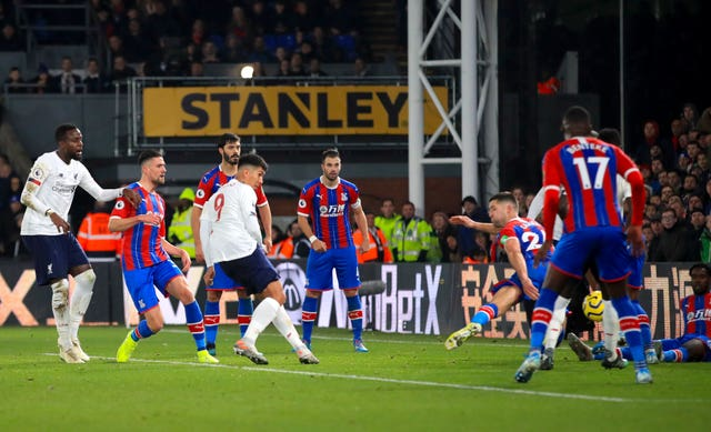 Roberto Firmino hit Liverpool's late winner at Crystal Palace