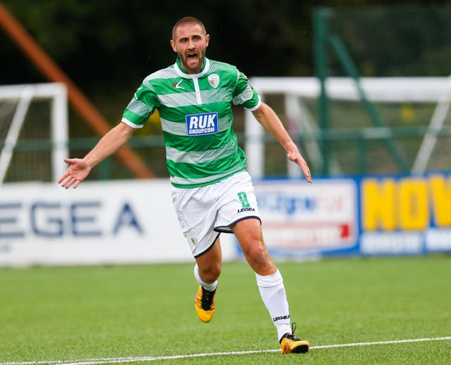 TNS striker Greg Draper helped the Welsh club win a world record 27 successive games in 2016