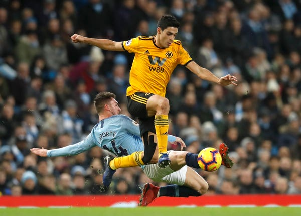Manchester City face Wolves in the Premier League on Sunday
