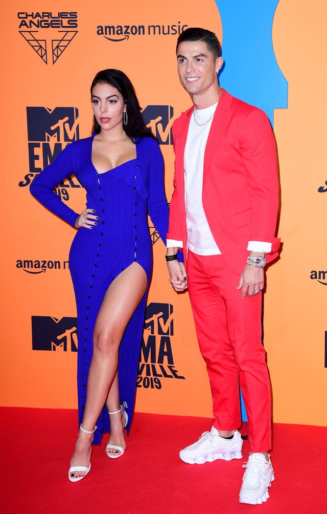 Georgina Rodriguez and Cristiano Ronaldo attending the MTV Europe Music Awards 2019