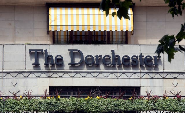 Waitresses at a prestigious charity dinner at London's Dorchester Hotel were allegedly subjected to sexual harassment from guests (Hannah McKay/PA)