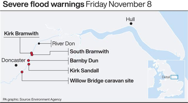 Severe flood warnings