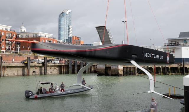 America's Cup Race Boat Launch Event