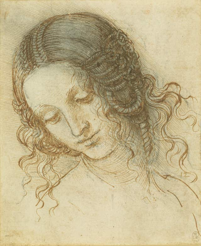 The head of Leda, c.1505-8, (Royal Collection Trust)