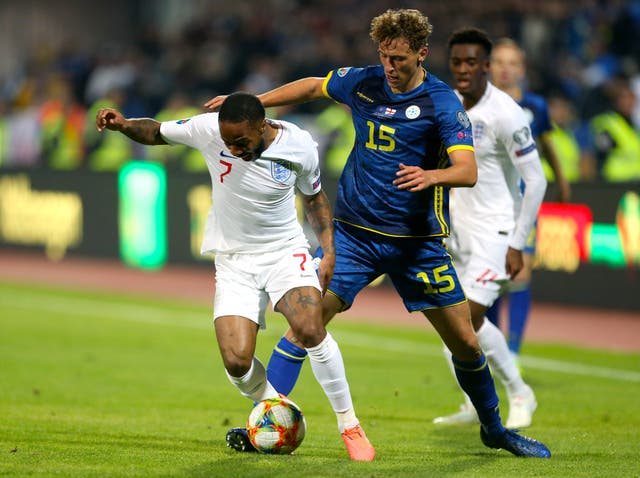 Sterling was involved as England added late goals in Kosovo