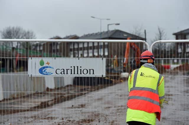 A Carillion sign at Midland Metropolitan Hospital in Smethwick (Joe Giddens/PA)