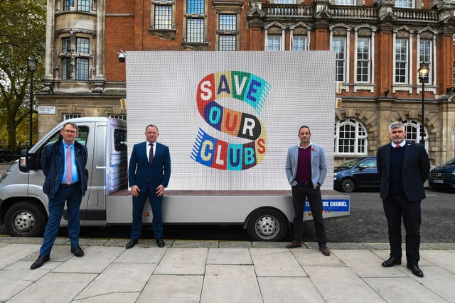 Steve Curwood, far right, is part of the SaveOurClubs campaign calling on the Government to help the EFL