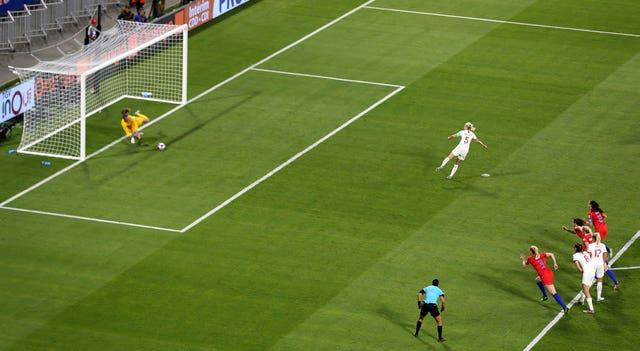 But USA goalkeeper Alyssa Naeher saved the spot-kick