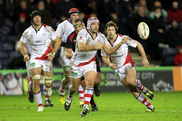 Rory Best, centre, has made 219 appearances for Ulster