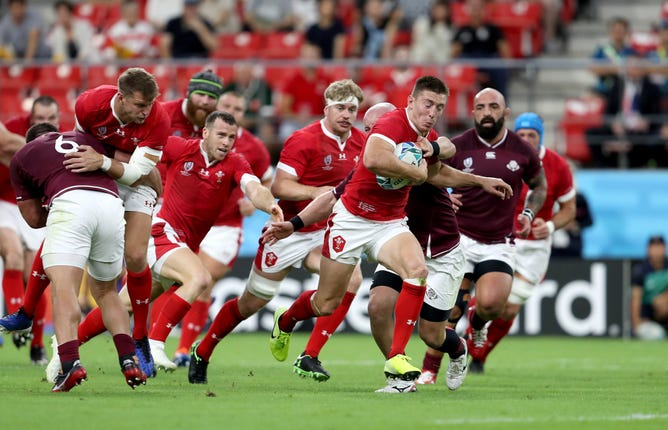 Wales got off to a winning start against Georgia