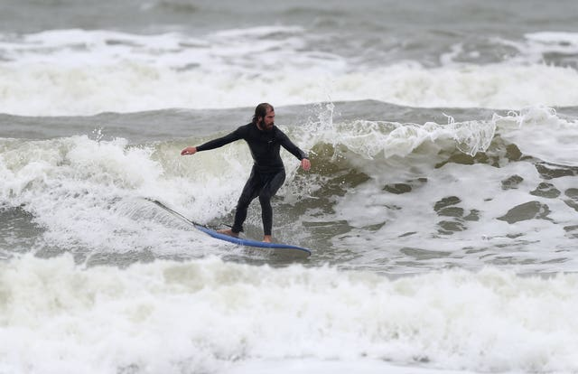 A surfer in Sussex