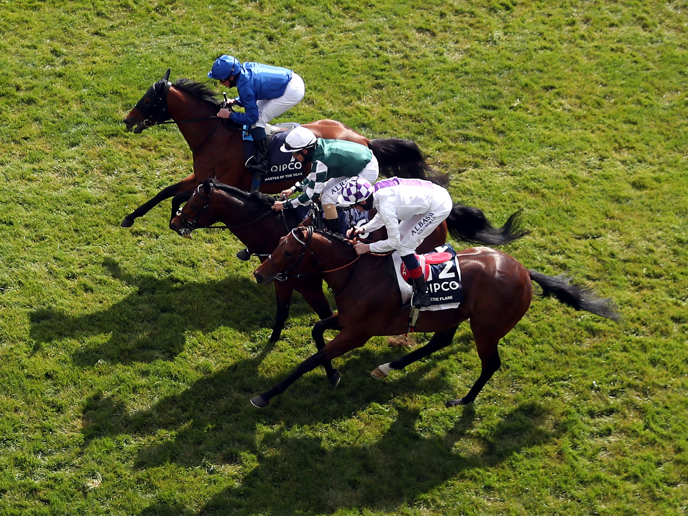Master Of The Seas (top) was touched off in the 2000 Guineas (David Davies/Jockey Club)
