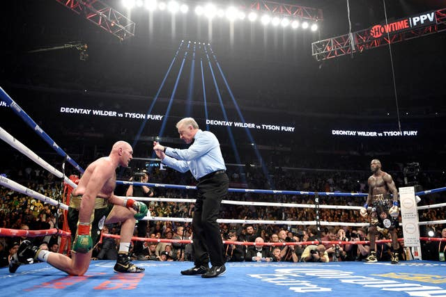 Fury climbed off the canvas in the ninth round