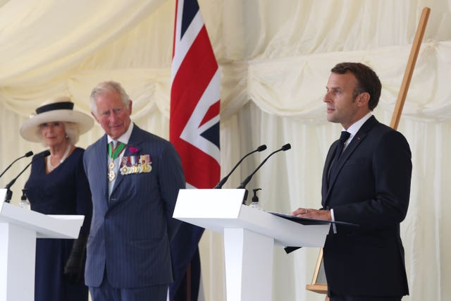 Emmanuel Macron visit to the UK