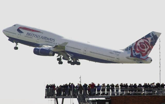 A British Airways Boeing 747 taklng off from London's Heathrow airport in 2001 (Tim Ockenden/PA)