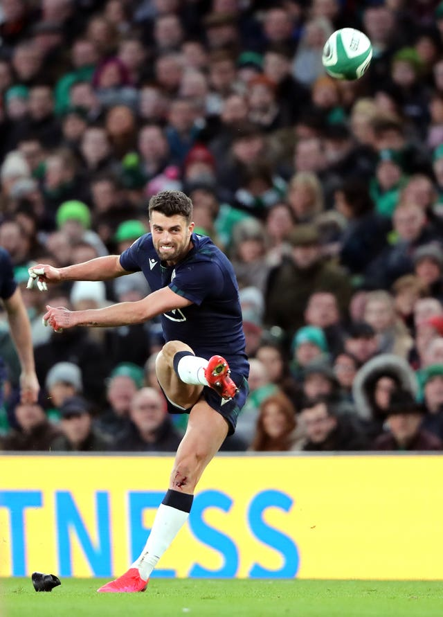 Adam Hastings kicked all of Scotland's points in the defeat to Ireland