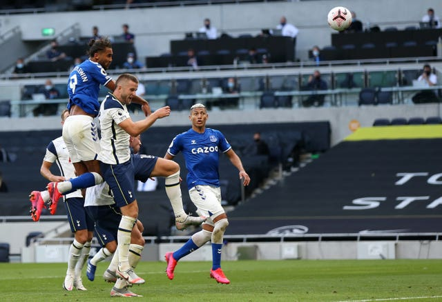 Dominic Calvert-Lewin scored the only goal with a header as Everton won at Tottenham