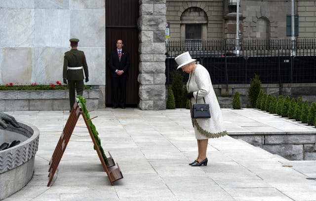 Queen during her state visit to Ireland