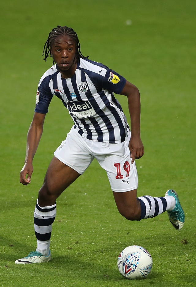 West Brom midfielder Romaine Sawyers