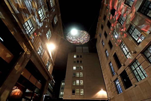 The Reflektor by Studio Roso on display in Carlton Street (Jonathan Brady/PA)