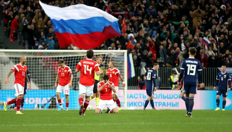 Russia were playing their first home match