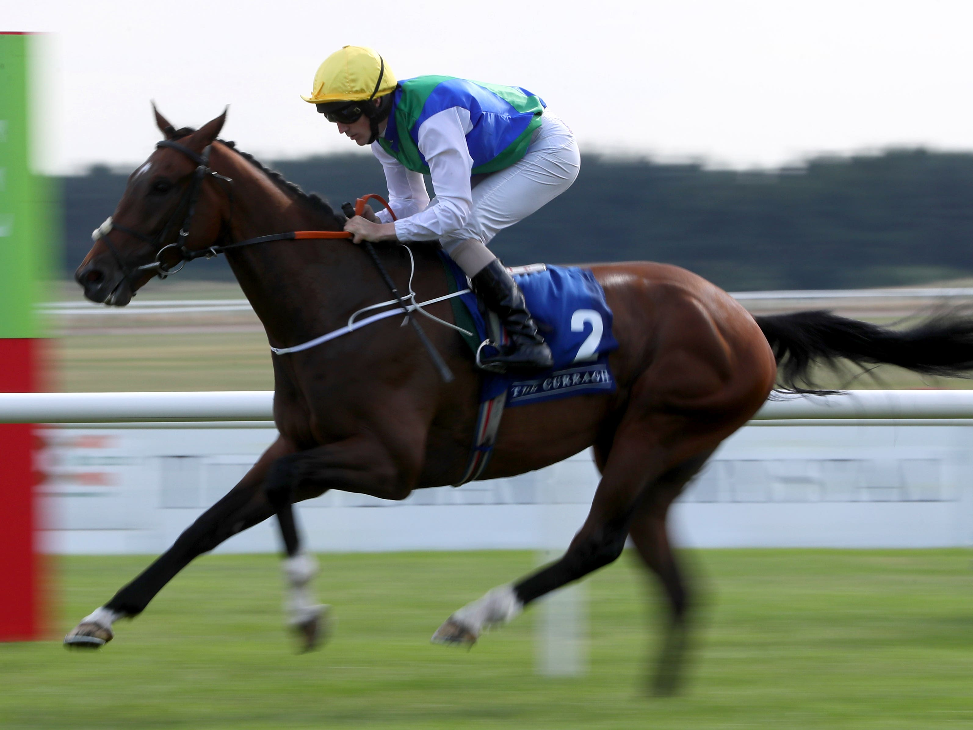 Maths Prize on his way to winning at the Curragh last month (Brian Lawless/PA)