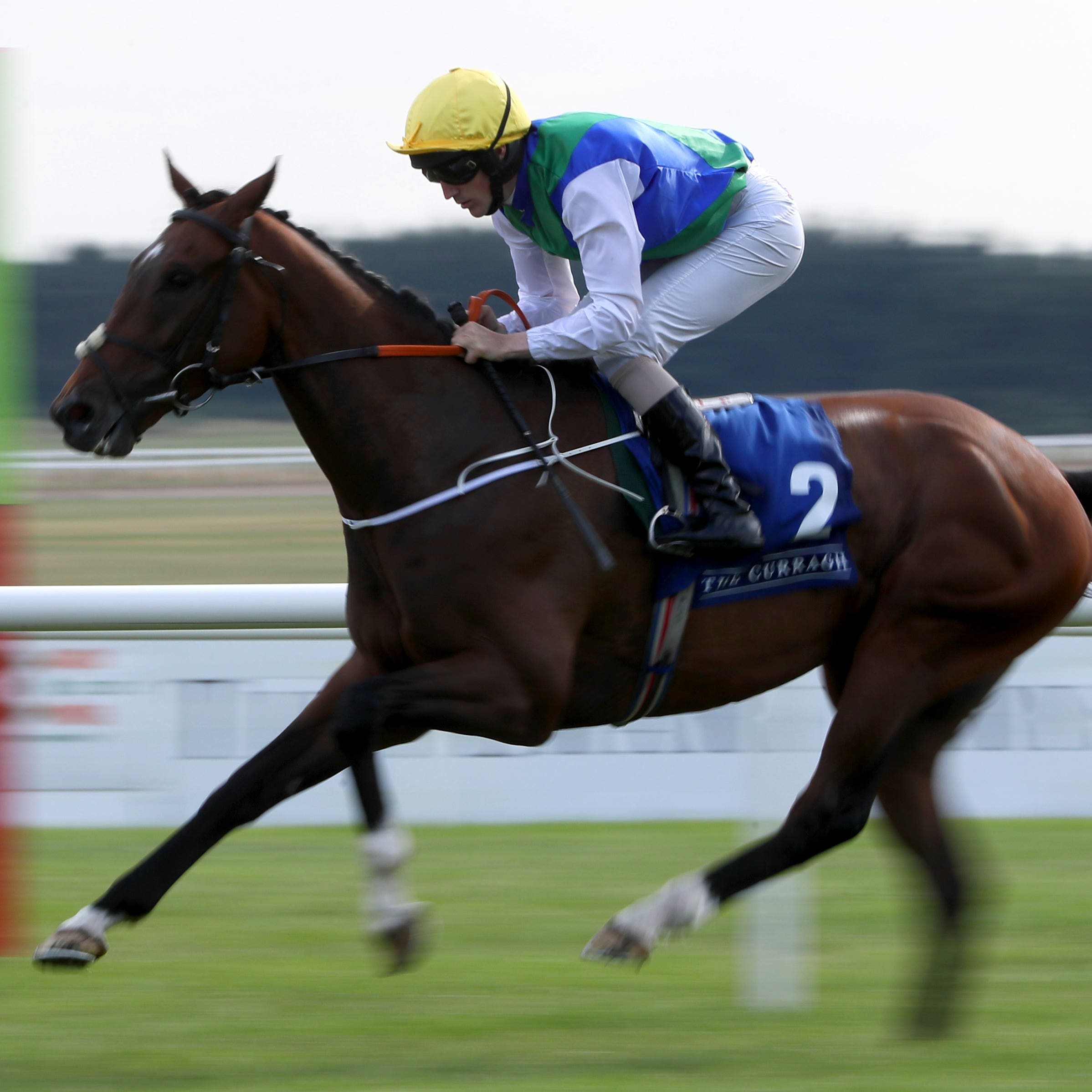 Maths Prize on his way to winning at the Curragh last month