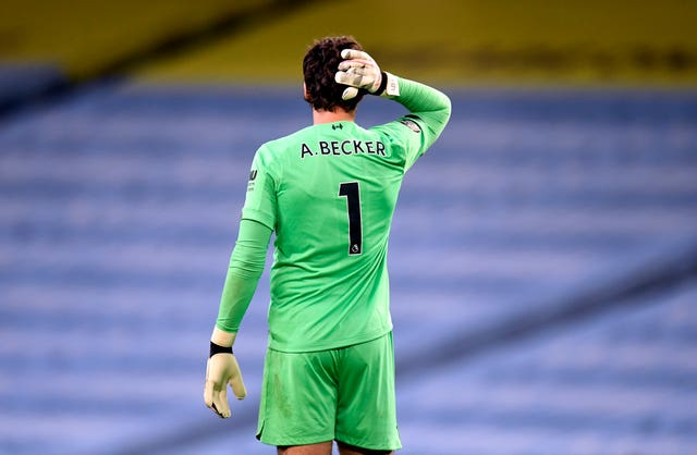 Injured goalkeeper Alisson Becker has made positive progress in his recovery from a shoulder injury