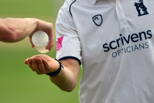 Hand sanitiser will be used regularly by county cricketers over the next two months