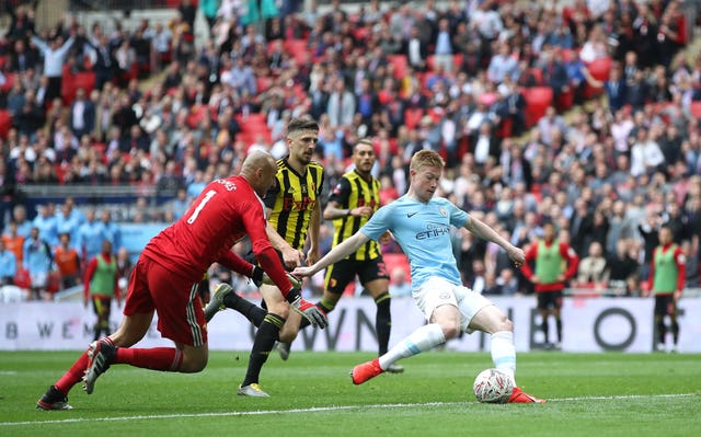 Manchester City thrashed Watford in last year's final