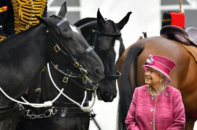 The Queen with the King's Troop