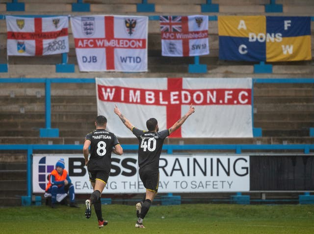 Anthony Wordsworth was on the scoresheet as AFC Wimbledon beat Halifax in the FA Cup second round