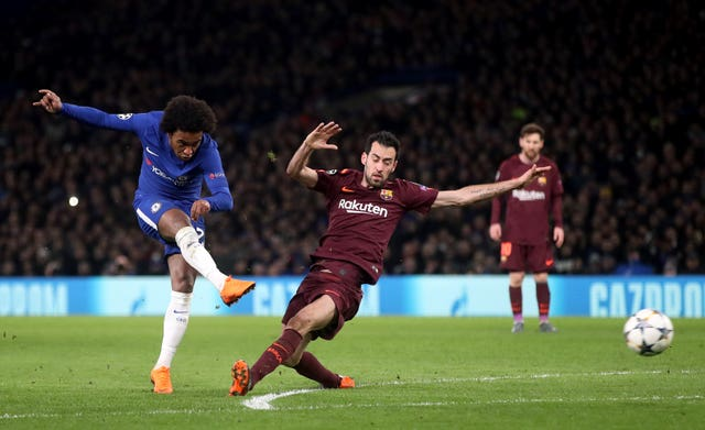 Willian scored past Barcelona in the first leg